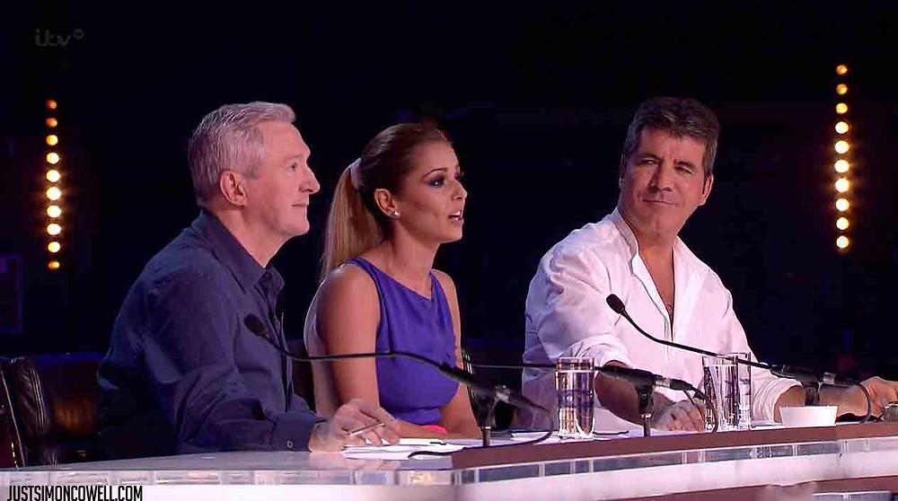 Simon Cowell, Louis Walsh and Cheryl Fernandez-Versini