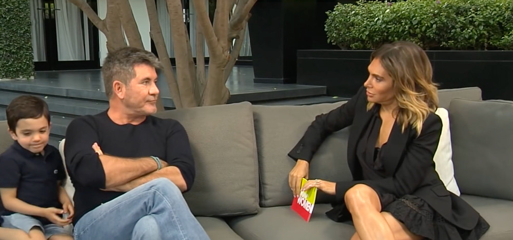 Ayda Field- Williams interviewing Simon Cowell for Loose Women