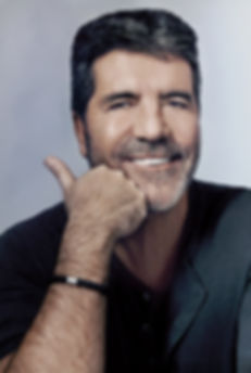 Simon Cowell with a beard for a magazine photo shoot