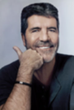 Simon Cowell with a beard for a magazine photo shoot