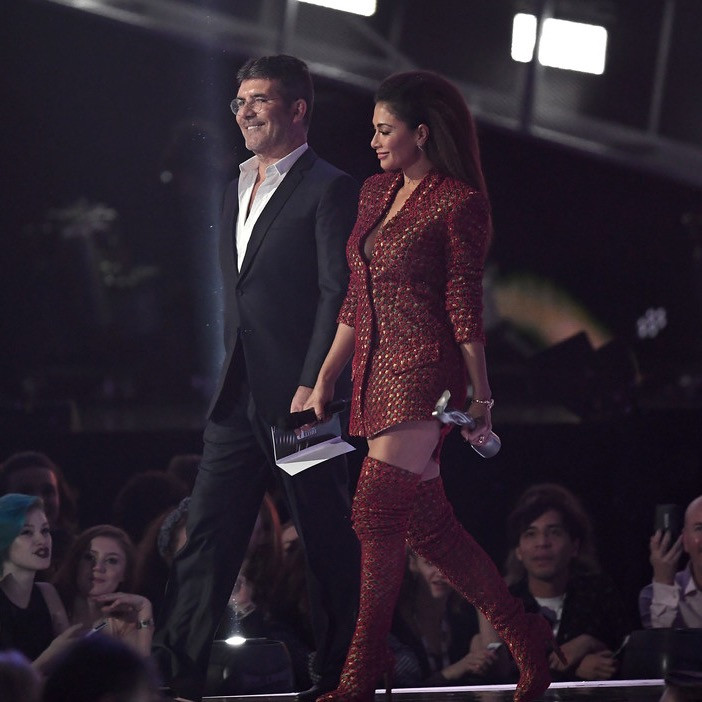 Simon Cowell and Nicole Scherzinger at the BRITs