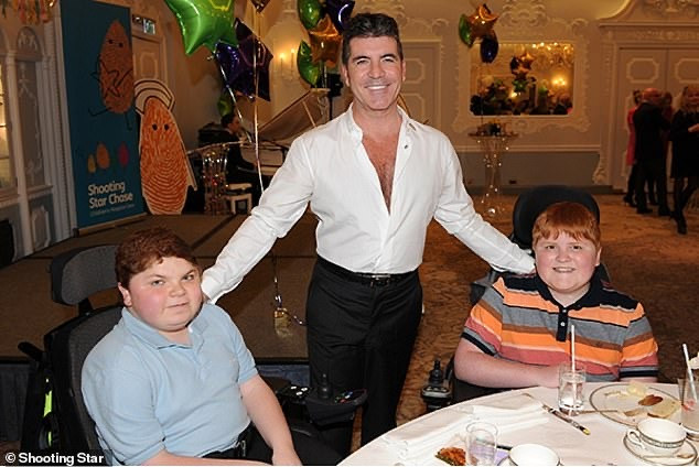 Simon Cowell at Shooting Star Chase Children's Hospice