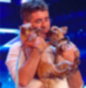 Simon Cowell with his dogs Squiddly and Diddly