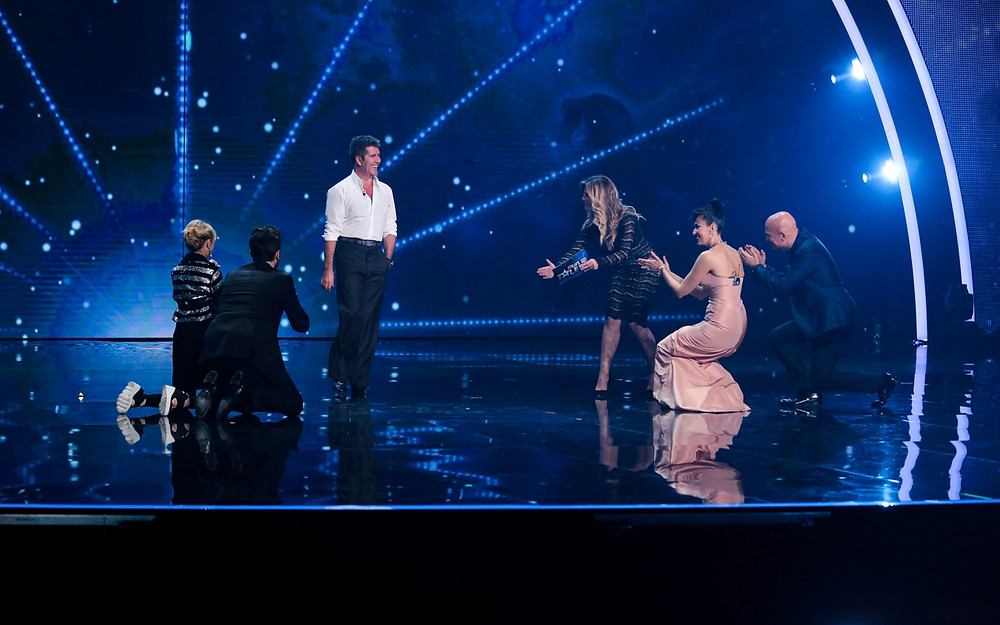Simon Cowell on Stage at Italia's Got Talent Final