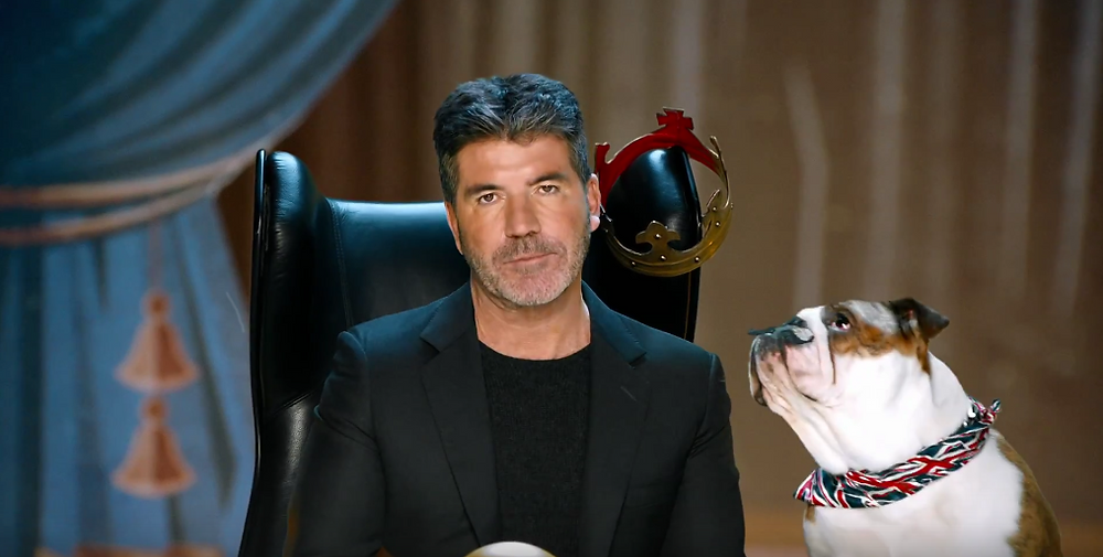 Simon Cowell and Bulldog for Britain's Got Talent