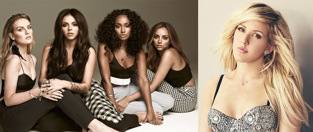 Little Mix and Ellie Goulding
