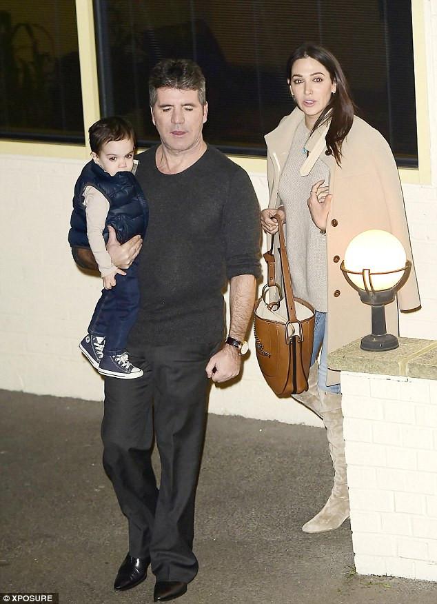 Simon Cowell, Lauren and son Eric