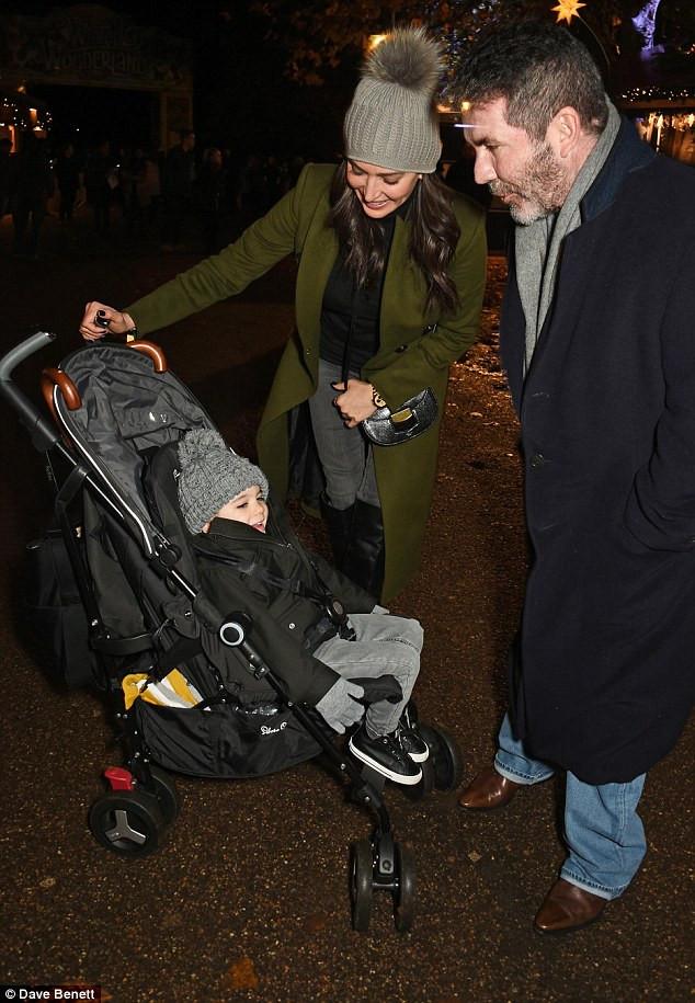 Simon Cowell, Lauren Silverman with son Eric Cowell