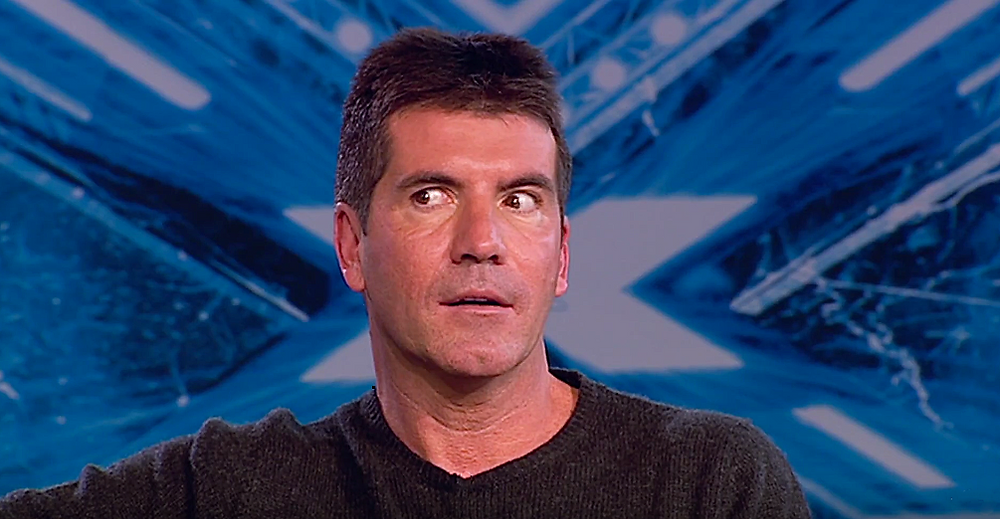 Simon Cowell X Factor throwback
