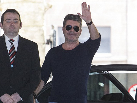 Simon Cowell and The X Factor Judges Arrive in Edinburgh