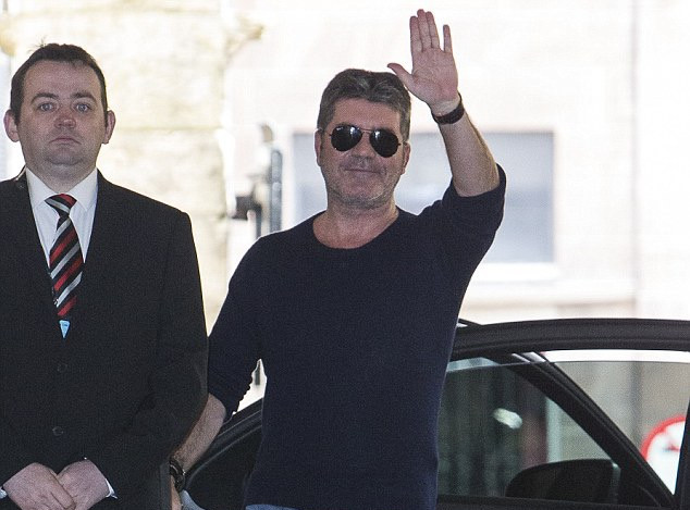 Simon Cowell in Edinburgh for X Factor auditions