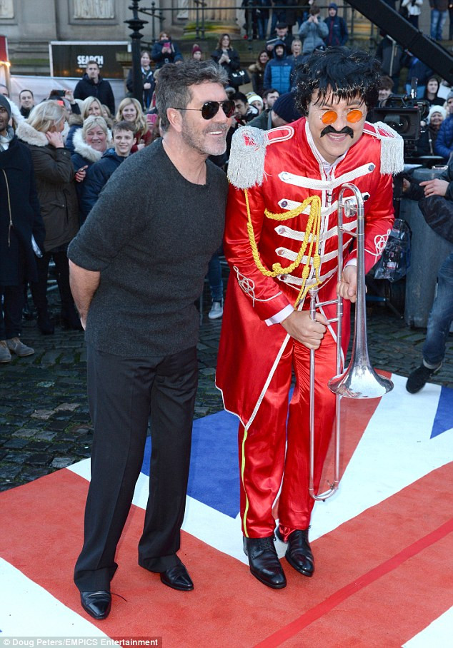 Simon Cowell and David Walliams at Britain's Got Talent