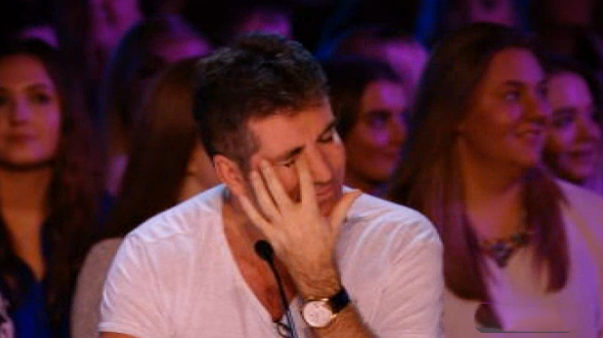 Simon Cowell tears up on X Factor
