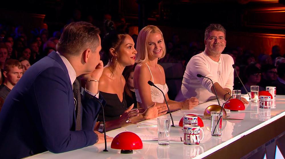 Simon Cowell, Alesha Dixon, David Walliams and Amanda Holden at Britain's Got Talent
