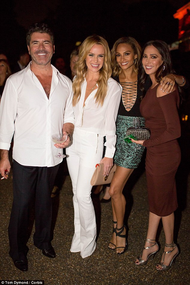 Simon Cowell, Amanda Holden, Alesha Dixon and Lauren Silverman at the Syco Summer Party