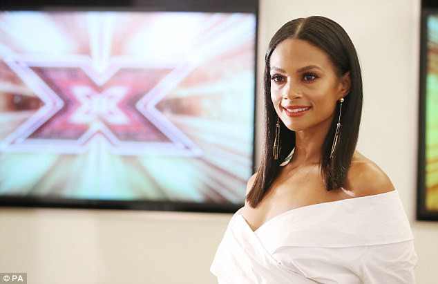 Alesha Dixon in Edinburgh for the X Factor auditions.