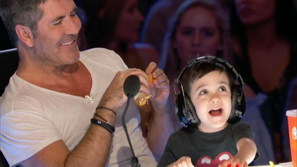 Simon Cowell and his son Eric on AGT