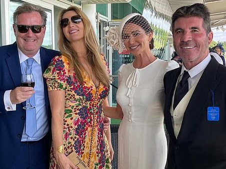 Simon Cowell has a family day out at Epsom races for Derby Day