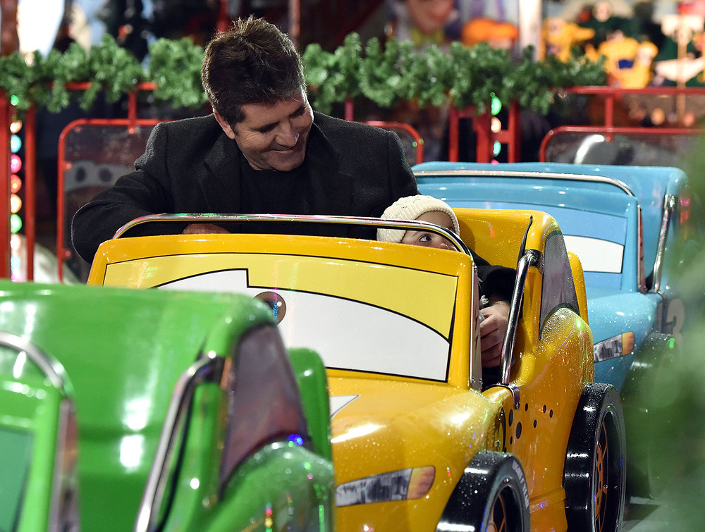 Simon Cowell and his son Eric at Winter Wonderland