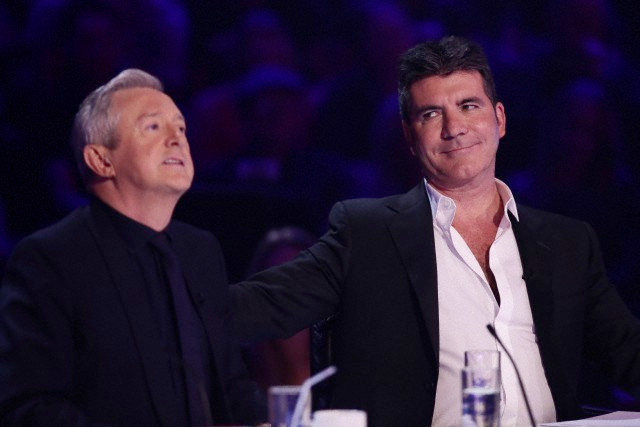 Simon Cowell and Louis Walsh on X Factor