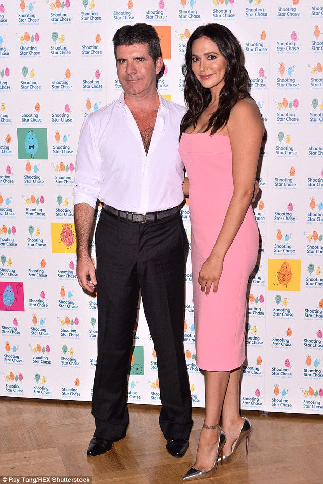 Simon Cowell & Lauren Silverman at Chase hospice