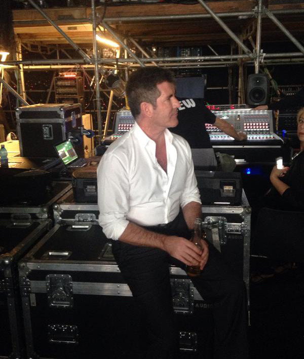 Simon Cowell backstage at Italia's Got Talent