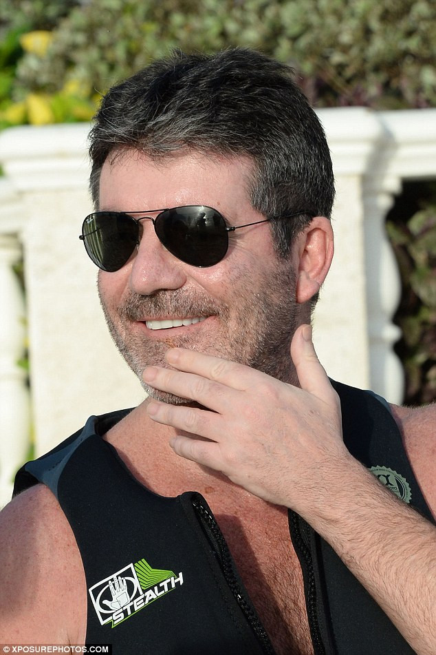 Simon Cowell in Barbados