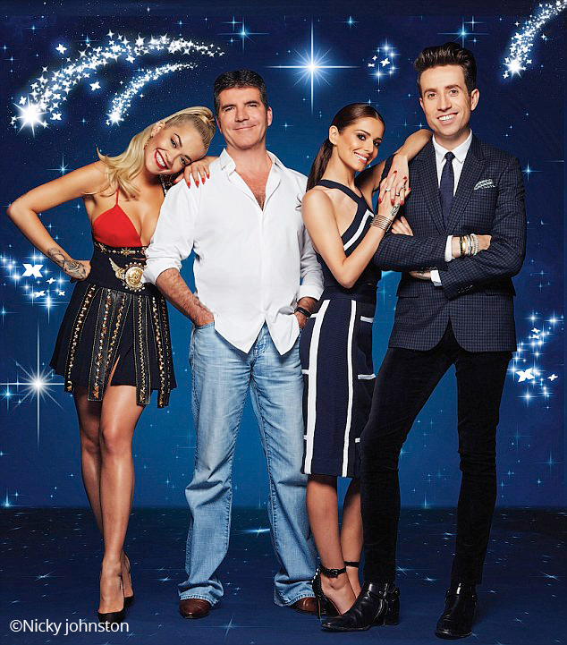 Simon Cowell, Rita Ora, Nick Grimshaw and Cheryl ernandez-Versini - X Factor Judges