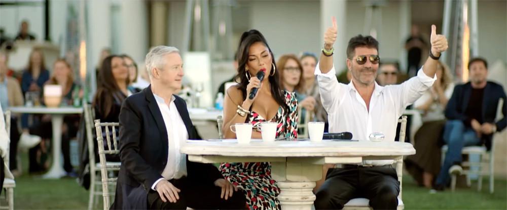 Simon Cowell, Louis Walsh and Nicole Scherzinger - X Factor Celebrity Judges