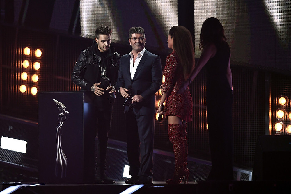 Simon Cowell with Liam Payne at the BRITs