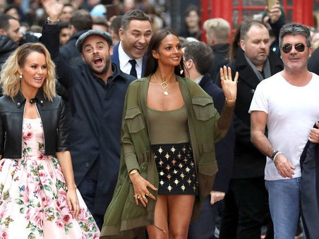 Simon Cowell and the BGT judges arrive in London - by tube!