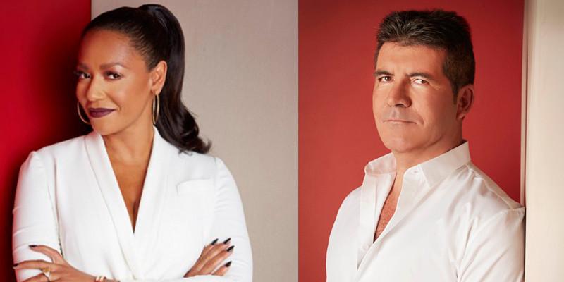 Simon Cowell and Mel B