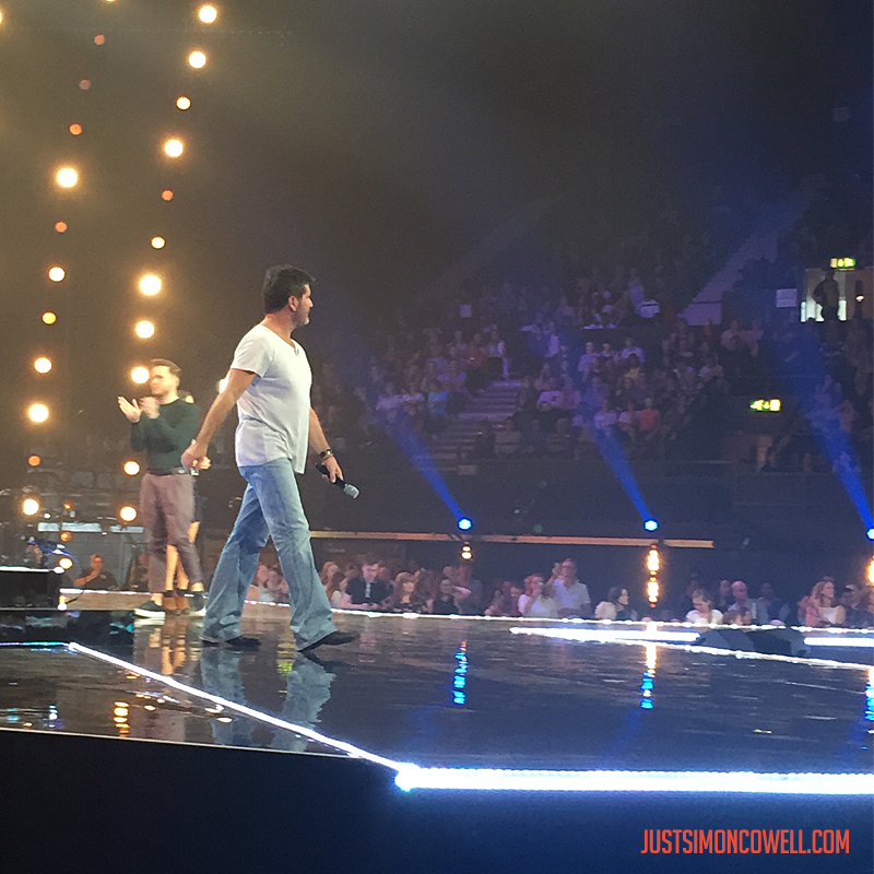 Simon Cowell at the X Factor Six Chair Challenge