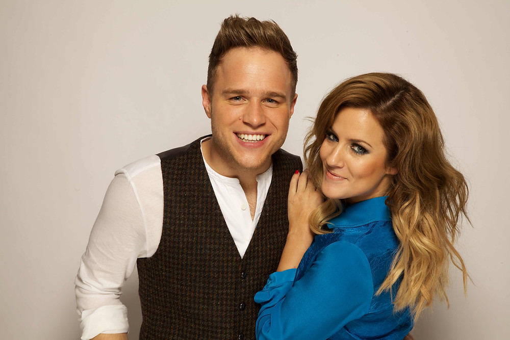 olly murs and Caroline Flack - X Factor Hosts