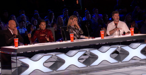 Simon Cowell and the AGT judges