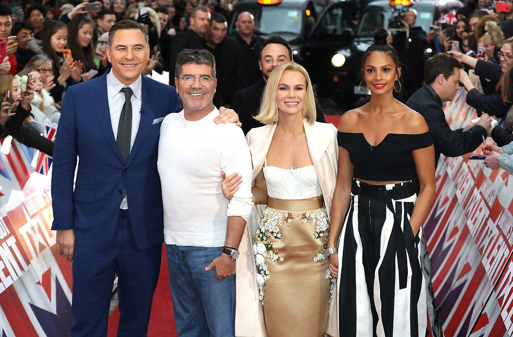 Simon Cowell and the Britain's Got Talent judges on the London red carpet