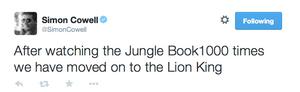 Simon Cowell tweet