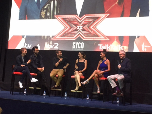 The judges and hosts at the X Factor launch party