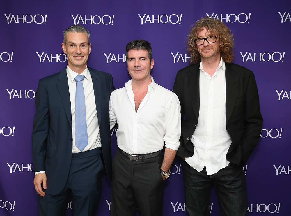 Simon Cowell with Hamish Hamilton and Patrick Moxey