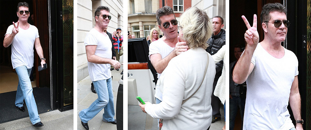 Simon Cowell heading off to X Factor in Manchester