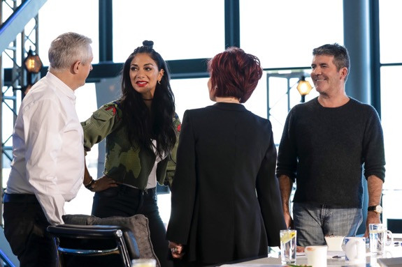 Simon Cowell, Louis Walsh, Nicole Scherzinger and Sharon Osbourne on X Factor