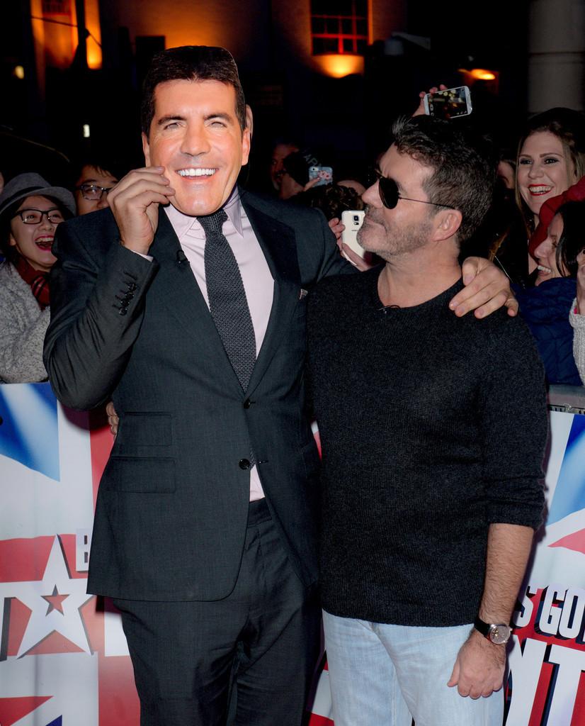Simon Cowell and David Walliams at Britain's Got Talent Birmingham