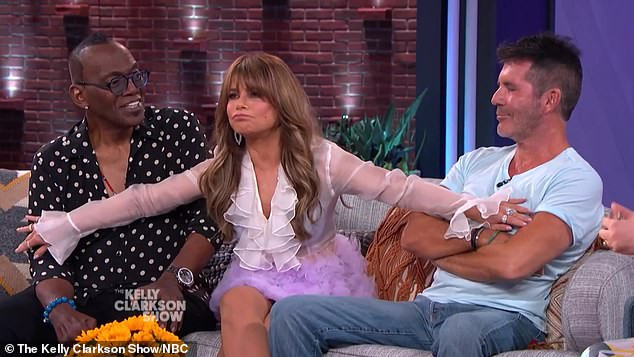 Simon Cowell, Paula Abdul and Randy Jackson on the Kelly Clarkson Show