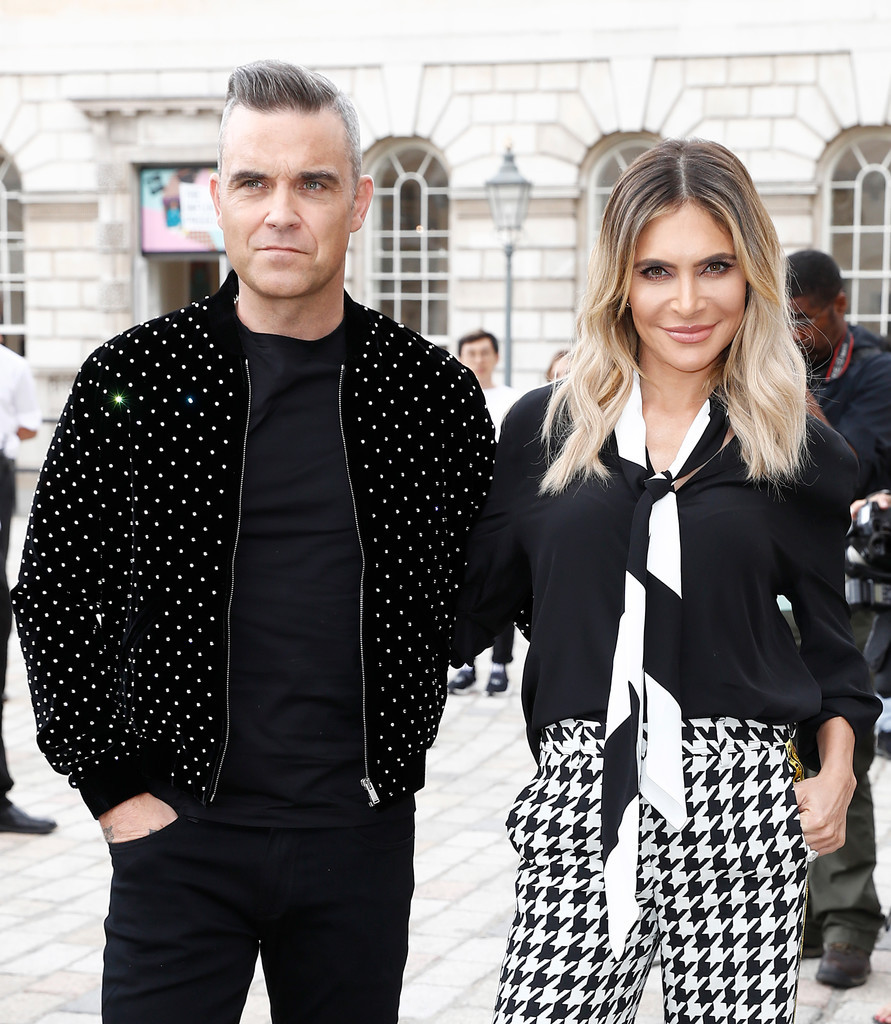 Robbie Williams with Ayda Field at the X Factor press call