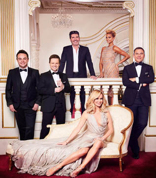 Simon Cowell and the judges on Britain's Got Talent