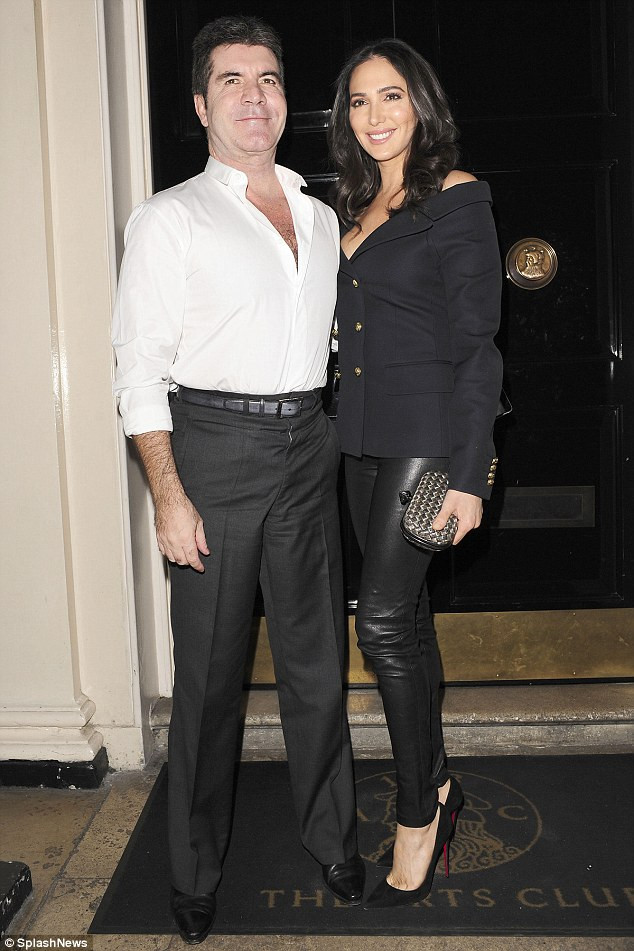 Simon Cowell & Lauren Silverman at the Arts Club