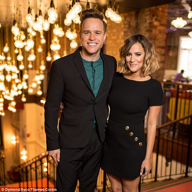Olly Murs and Caroline Flack at the X Factor launch