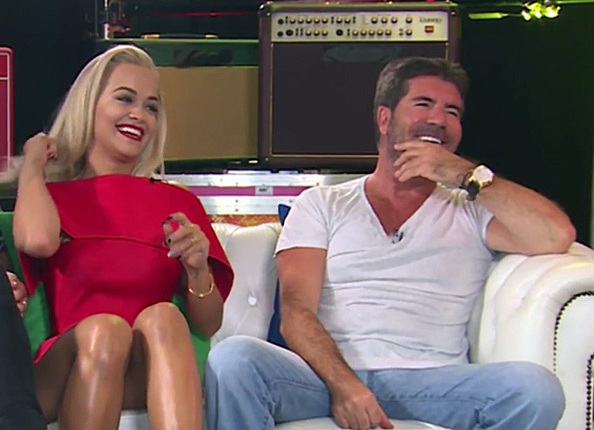 Simon Cowell with Rita Ora