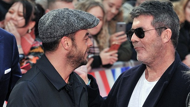 Simon Cowell with Ant McPartlin