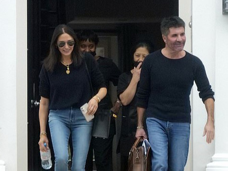 Simon Cowell and his family leave London for Los Angeles